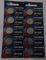 Renata CR2016 3V Lithium Coin Battery - 10 Pack + FREE SHIPPING!