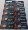 Renata CR1025 3V Lithium Coin Battery 10 Pack + FREE SHIPPING!
