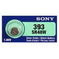 Sony Murata 309/393 - SR48 Silver Oxide Button Battery 1.55V - 5 Pack + FREE SHIPPING!