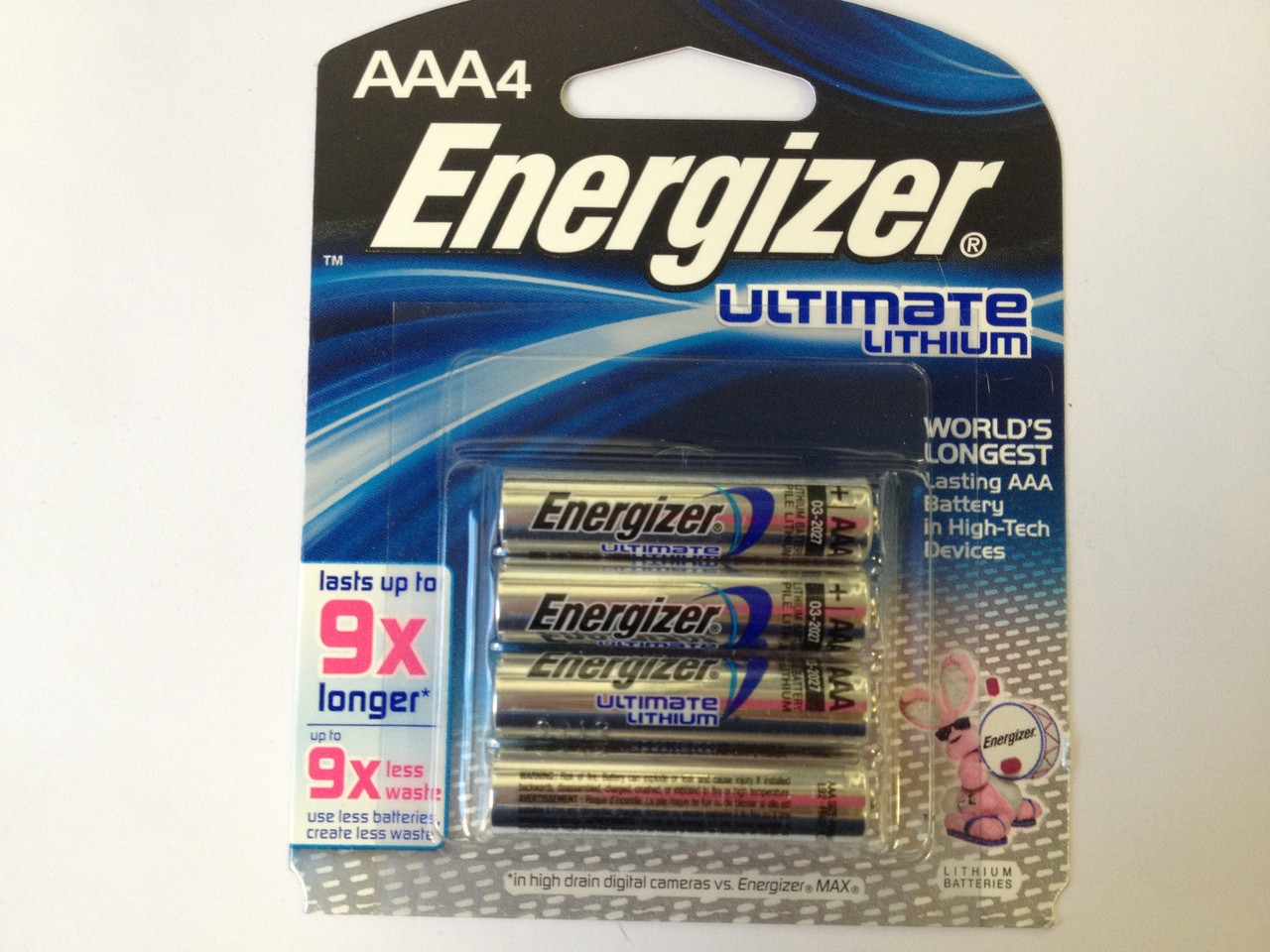 Energizer L92 AAA Lithium Batteries 1.5V - Retail