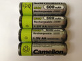 Camelion AA Rechargeable NiCD Batteries 600mAH 4 Pack + FREE SHIPPING!
