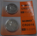 BBW CR2016 3V Lithium Coin Battery 2 Pack -  FREE SHIPPING!