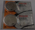 Maxell CR2025  3 Volt Lithium Coin Battery - 2 Pack - FREE SHIPPING!