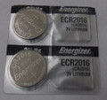 Energizer CR2016 3V Lithium Coin Battery - 2 Pack + FREE SHIPPING!