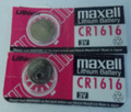 Maxell CR1616 3 Volt Lithium Coin Battery - 2 Pack + FREE SHIPPING