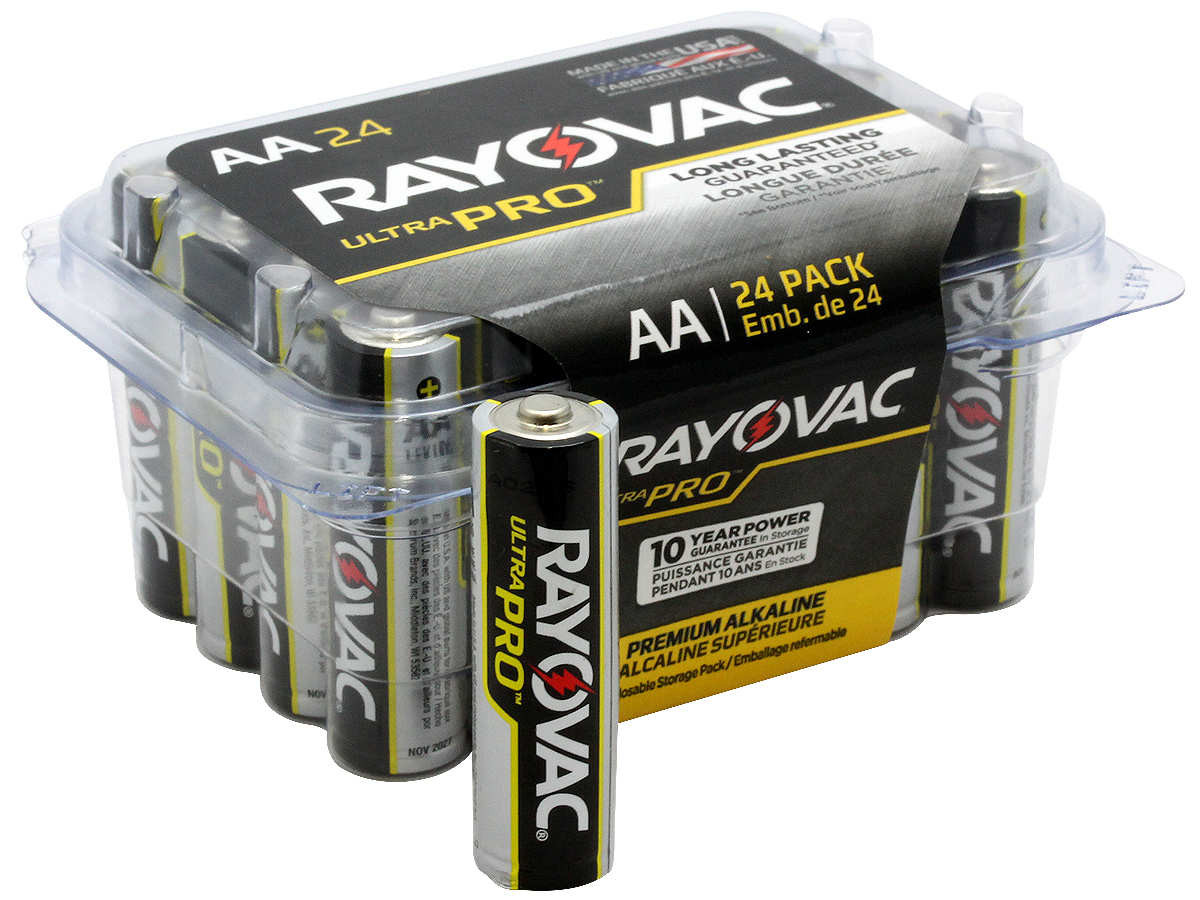 48 Piece Combo Pack - Rayovac Alkaline UltraPro 24 AAA and