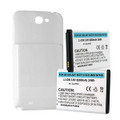 SAMSUNG GALAXY NOTE II 6.2Ah EXTENDED BATTERY W/ NFC WHITE COVER + FREE SHIPPING