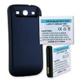 SAMSUNG GALAXY S III 4200mAh EXTENDED BATTERY WITH NFC BLUE CVR + FREE SHIPPING