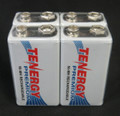 Tenergy Premium 9V NiMH 200mAh mAh Rechargeable Batteries - 4 Pack + FREE SHIPPING!