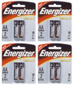 Energizer Max AA - 2 Pack Retail Carded - 4 Cards + Free Shipping