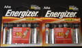 12 - Energizer MAX AA E91 1.5V Alkaline Batteries - 3 Retail Cards of 4 + Free Shipping