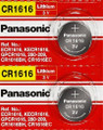 Panasonic CR1616 3V Lithium Coin Battery - 2 Pack + FREE SHIPPING!