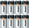 Energizer Max 9V Alkaline 522VP Batteries - 8 Pack -  FREE SHIPPING!