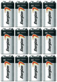 Energizer Max 9V Alkaline 522VP Batteries - 12 Pack -  FREE SHIPPING!