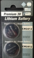 Panasonic CR2412 3V Lithium Coin Battery - 2 Pack + Free Shipping