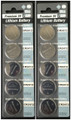 Panasonic CR2412 3V Lithium Coin Battery - 10 Pack + Free Shipping