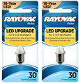 Rayovac LED Upgrade Bulb for 2-Cell Flashlights 3VLED-1T -2 Pack + FREE SHIPPING!