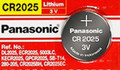 Panasonic CR2025 3V Lithium Coin Battery - 1 Pack + FREE SHIPPING!