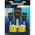 Rayovac Brite Essentials (2)AA/(2)D LED Rubberized Flashlight 3-Pack + FREE SHIPPING!
