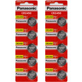 Panasonic CR2450 3V Lithium Coin Battery - 10 Pack + FREE SHIPPING!