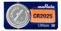 Sony Murata CR2025 3V Lithium Coin Battery - 2 Pack + FREE SHIPPING!
