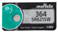Sony Murata 364 - SR621SW Silver Oxide Button Cell Battery 1.55V - 2 Pack + FREE SHIPPING!