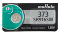 Sony Murata 373 - SR916SW Silver Oxide Button Cell Battery 1.55V - 1 Pack + FREE SHIPPING!