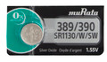 Sony Murata 389/390 - SR1130 Silver Oxide Button Cell Battery 1.55V - 2 Pack + FREE SHIPPING!