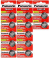 12 X Panasonic Cr2025 3V Lithium Coin Cell Batteries