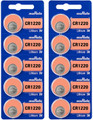 Murata CR1220 Battery 3V Lithium Coin Cell - Replaces Sony (25 Batteries)