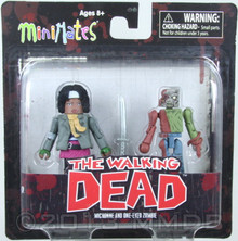 Diamond Select Toys Walking Dead Minimates Series 2: Michonne and One-Eye Zombie, 2-Pack