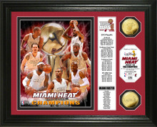 "Miami Heat 2013 NBA Champions ""Banner"" Gold Coin Photo Mint"