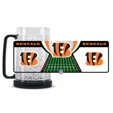 16Oz Crystal Freezer Mug NFL - Cincinnati Bengals