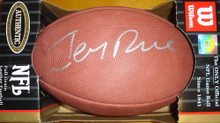 Autographed Jerry Rice Official NFL Wilson Game Ball