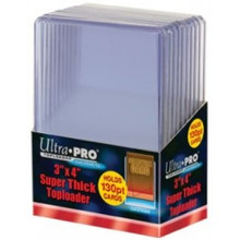 "Ultrapro 3 X 4"" Super Thick Toploader (130Pt) - 10CT"