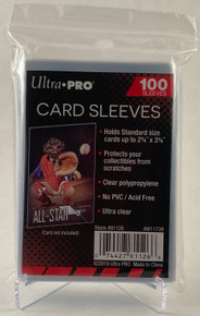 "Ultra Pro Card Soft Sleeves 2 5/8"" x 3 5/8"" - 1 pack (100 Sleeves)"