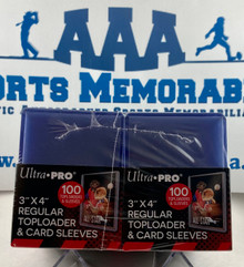 """Ultra Pro 3"""" X 4"""" Regular Toploaders And Soft Sleeves 200ct Pack"""