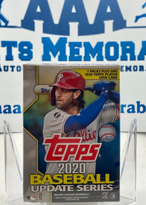 2020 Topps Update Series Baseball Blaster Box - 7 packs + 1 Coin Card