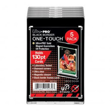 5-Pack Ultra Pro BLACK BORDER 130pt Thick One Touch Magnetic Trading Card Holder