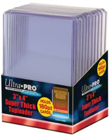 "Ultrapro 3 X 4"" Super Thick Toploader (180Pt) - 10CT"