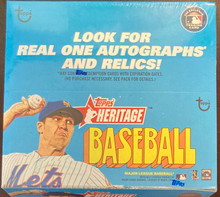 2021 Topps Heritage Baseball Factory Sealed Retail 24 Pack Box