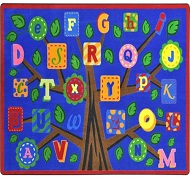 nursery kids themed rug alphabet room wall kinderloom theme rugs abc art