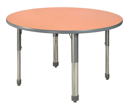 Allied Plastics M748CR/L Vision Colored Markerboard Top Table 48 Inch Round Adjustable Height