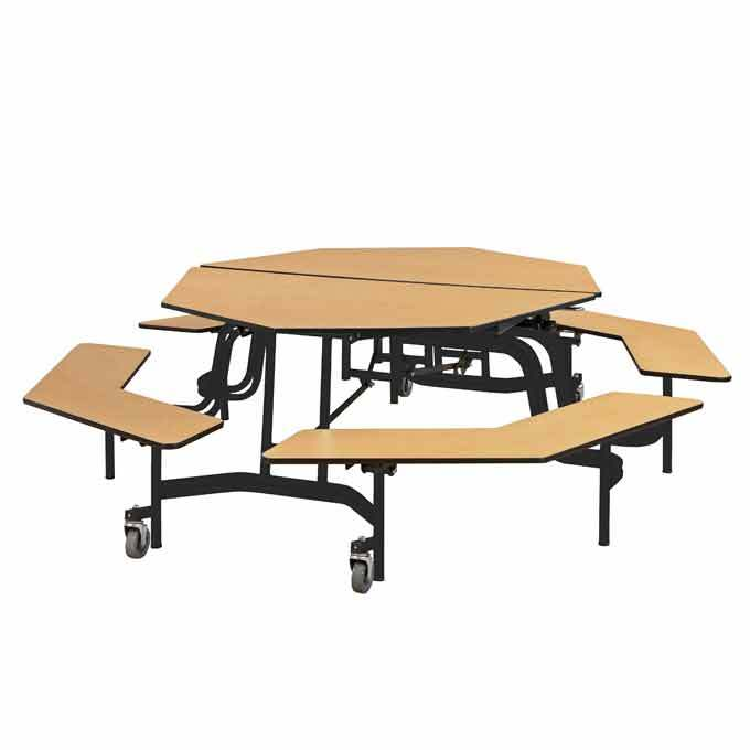 Octagonal Cafeteria Table. Wall Mounted Cafeteria Tables