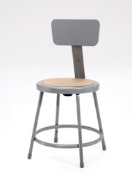 6230b Stool With Round Hardboard Seat And Backrest L