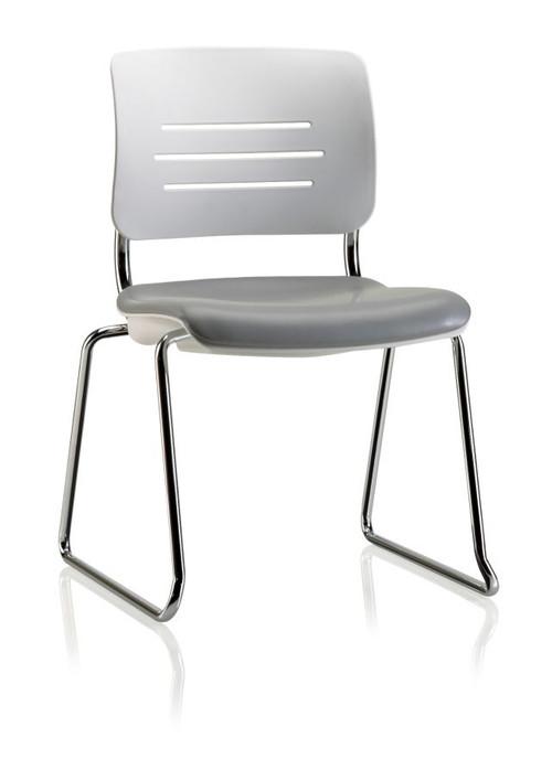 KI Grazie GSNAU Upholstered Armless Sled Base Chair