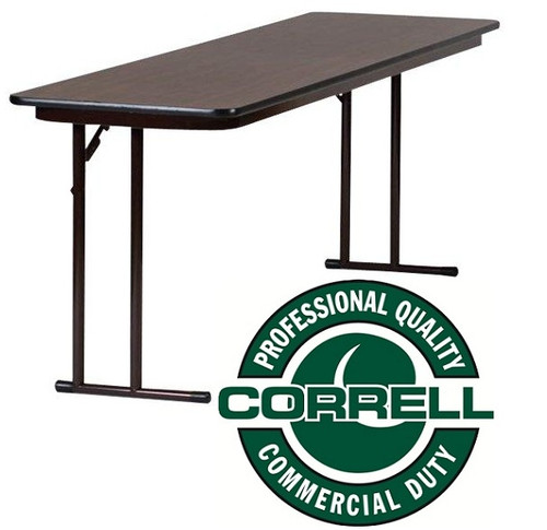 Correll STPX High Pressure Laminate Panel Leg Folding Seminar - 18 x 96 training table