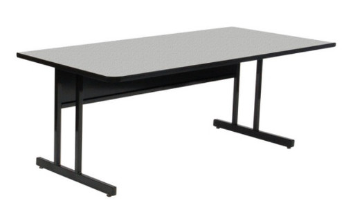 CSM Econoline Trapezoid Keyboard Height Workstation With - Trapezoid conference table