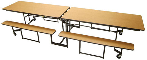 Mitchell Furniture Systems NP Full Benches With Black Powder - 12 foot picnic table