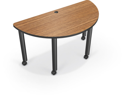 Balt Half Round Modular Conference Table L Affordable Desks - Half circle conference table